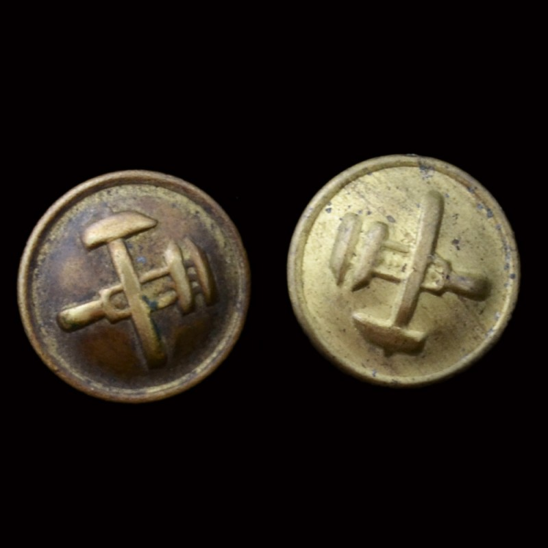 A pair of shoulder buttons the people's Commissariat of 1943