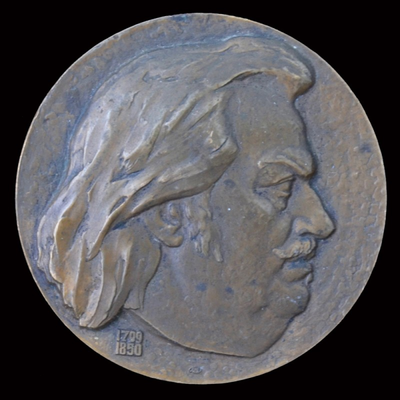 "Table medal ""175 years since the birth of Honore de Balzac"""