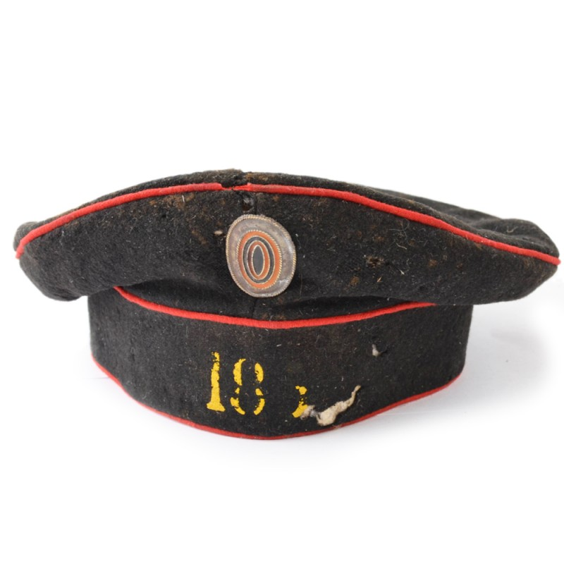 The cap of the sample 1881 lower rank 188 th infantry regiment of the backup Taken
