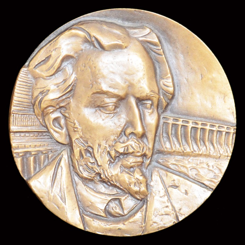 "Table medal ""100 years since the birth of V. A. Vesnin"""