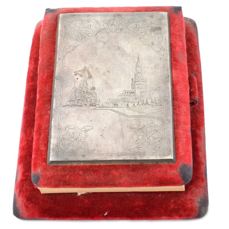 A premium notebook with a picture of the Spasskaya tower of the Kremlin