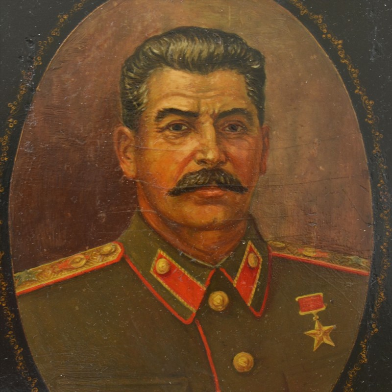Portrait Of I. V. Stalin, Palekh