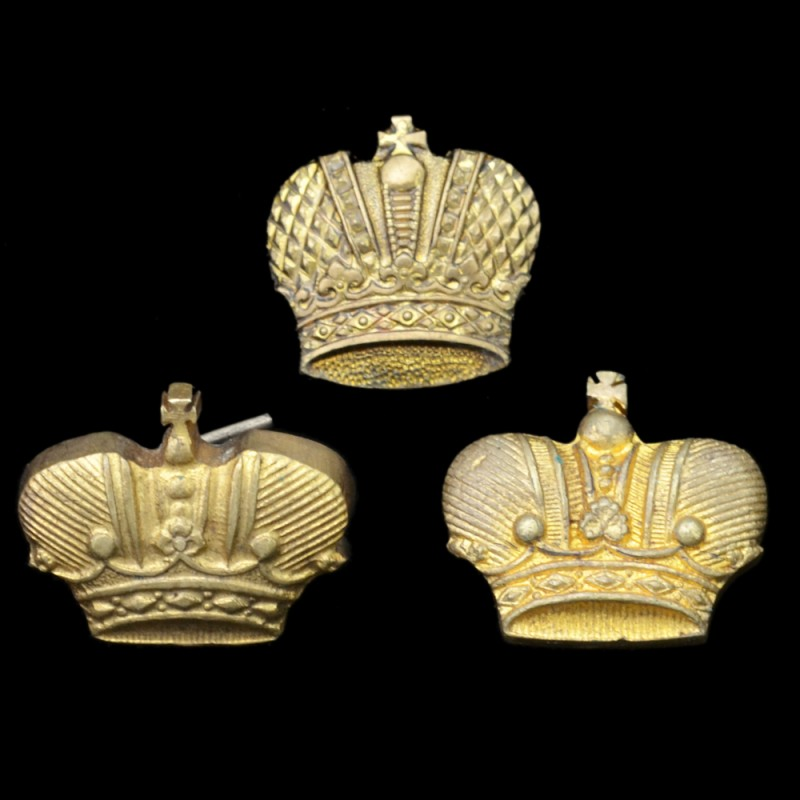 Lot crowns with shoulder straps and epaulettes officers RIA