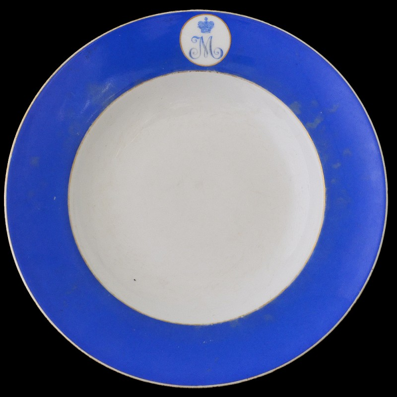 Plate from the dining room of the Mikhailovsky Voronezh cadet corps