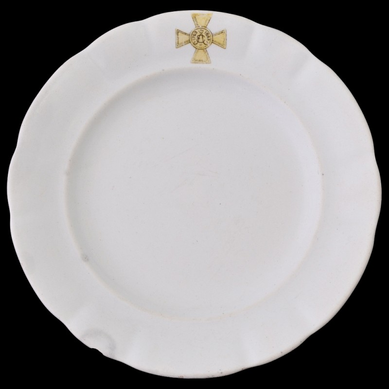 Dessert plate from the officers ' meeting of the 33rd infantry regiment Eletskii
